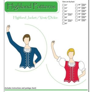 Highland Jacket/Vest/Dickie Pattern