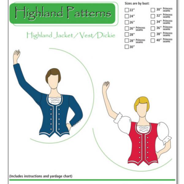 Highland Jacket/Vest/Dickie Pattern