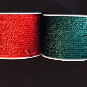 Green and Red Lace Cord