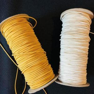 Cream and Gold Elastic Cord