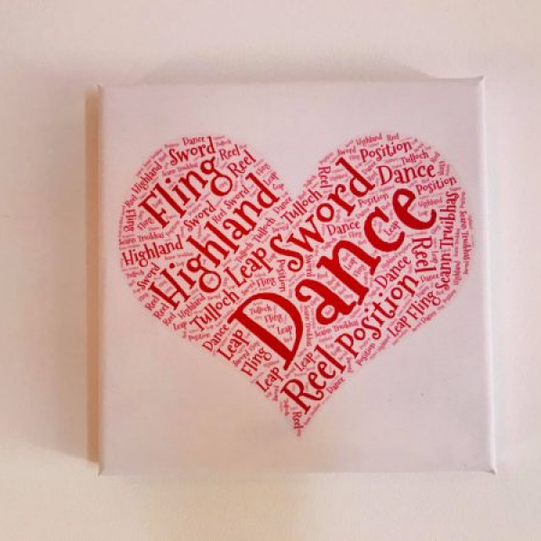 Highland Dance Canvas
