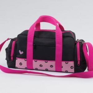 Spotty Hearts Black Dance/Sports Bag