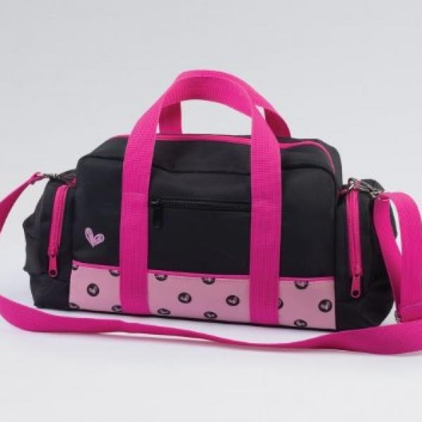 Spotty Hearts Black Dance/Sports Bag